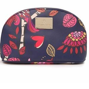 Trina turk botanical birds dome cosmetic bag